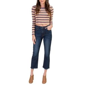 Harper Heritage High Rise Straight Fray Jeans